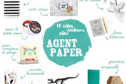 10 Idées Cadeaux chez Agent Paper